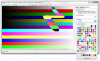Bitmap Editor screenshot, choosing line colour